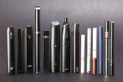 Vaping devices, also known as electronic or e-cigarettes, come in a variety of shapes and sizes.