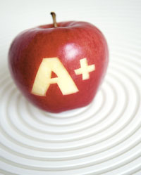 Have an apple as a smart snack